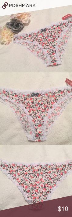"""Plus size floral panties w/ lace trim 3x """"Miss Vickies Intimates"""" floral panties with lace trim Miss Vickie's Intimates Intimates & Sleepwear Panties"""