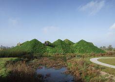 Studio Marco Vermeulen adds grass blanket on island museum