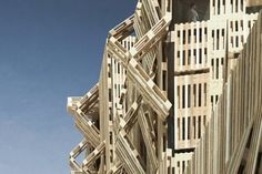 Wood Pallet Facade by Stephane Malka -