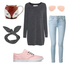 """""""Roxy"""" by natalieurb on Polyvore featuring Fine Collection, Frame Denim, Vans, Sur La Table, Cheap Monday and Ray-Ban"""