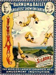 "vintage circus poster 1894 ""Barnum & Bailey"" Greatest show on earth retro fine art design-art and collection Vintage Circus Posters, Carnival Posters, Carnival Themes, Carnival Rides, Cirque Vintage, Vintage Carnival, Cabaret, Maurice Careme, Barnum Bailey Circus"