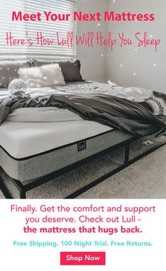 Finally - get the comfort & support you deserve - delivered to your door with a 100 Night Trial. Advanced sleep technology for spine alignment & pressure relief. Love it, or your money back.