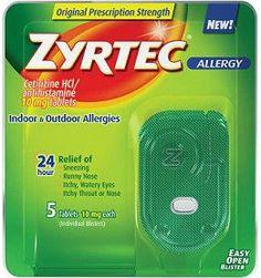 #36 - Une boite de Zyrtec. Il y a des fois, il faut s'avouer vaincue.
