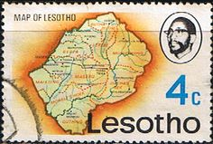 Lesotho 1976 SG 302 Map Fine Used                    SG 302 Scott 201    Condition Fine Used    Only one post charge applied on multipule purchases