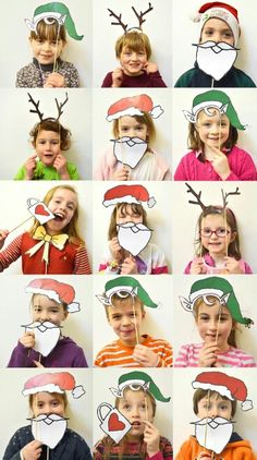 The best DIY projects & DIY ideas and tutorials: sewing, paper craft, DIY. DIY Gifts & Wrap Ideas 2017 / 2018 MollyMoo – crafts for kids and their parents Christmas Photobooth For KIds (nadal) -Read Preschool Christmas, Christmas Activities, Christmas Crafts For Kids, Xmas Crafts, Christmas Projects, Christmas Decorations, Christmas Trends, Noel Christmas, Christmas Photos