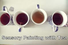 Explore the sense of smell with tea painting...