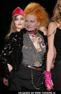 Vivienne Westwood....fashion designer of modern punk and new wave fashions