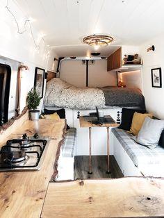 Van Conversion Interior, Camper Van Conversion Diy, Van Living, Tiny House Living, Build A Camper Van, Travel Camper, Van Travel, Kombi Home, Van Home