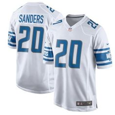 Men s Detroit Lions Barry Sanders Nike White 2017 Retired Player Game Jersey.  Find this Pin and more on jerseys by ... a53e26091