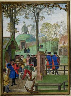 November 1 - Hennessy Book of Hours - miniaturist: Simon Benning - Flanders, 1530-1540 - Bruxelles, Bibliothèque royale Albert Ier, ms. II 158