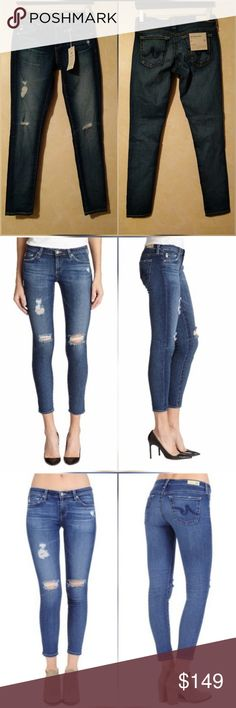 """AG Legging Ankle Jeans in 11 Year Swapmeet New with tags. Perfect condition. No trades. Approximate measurements Waist flat across 14.5"""" Rise 7.75"""" Inseam 28.5"""" Color looks most like first stock photos (image 2) AG Adriano Goldschmied Jeans Skinny"""
