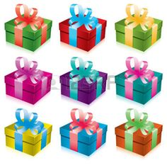 RIBBON OF COLOUR: ensemble de coffrets-cadeaux avec ARC et ruban