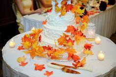 Easy autumndecoration for your weddingcake.
