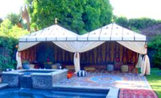 Caidal Tent by pool