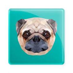 Pug pixelizado - Ímã colecionável disponível na loja online www.divertima.com