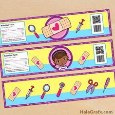 FREE Printable Doc McStuffins Water Bottle Labels