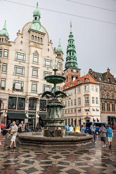 Stork Fountain, Stroget, Copenhagen, Denmark