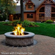 Add the Necessories Grand Fire Ring Limestone Cap to your Necessories Grand Fire Pit. This limestone cap will fit around the edge of the fire pit and gives it a complete look. Dyi Fire Pit, Paver Fire Pit, Fire Pit Ring, Concrete Fire Pits, Wood Burning Fire Pit, Fire Pit Area, Fire Pit Backyard, Outside Fire Pits, Round Fire Pit