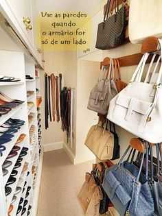 Uma ideia legal para quem tem muitas bolsas. (Foto: Divulgação)