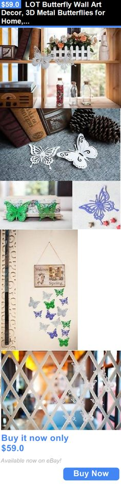 Baby Nursery: Lot Butterfly Wall Art Decor, 3D Metal Butterflies For Home, Room, Garden Design BUY IT NOW ONLY: $59.0