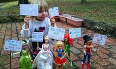 This Family Hosted A Women's March Featuring Their Daughter's Dolls