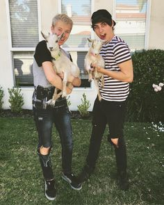 """32.3 tusind Synes godt om, 722 kommentarer – Sam (@samgolbach) på Instagram: """"we have decided to stop youtube and open up a goat farm... right now every single goat we have is…"""" Colby Brock, Sam And Colby, Crank That Frank, Roommates, Petting Zoo, Youtubers, Fan Girl, Man Crush, Goat"""