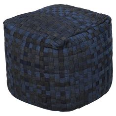 I'm a sucker for a pouf ... but a blue jean pouf! Just think about all that great texture, love it.