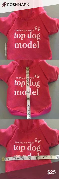DOG CLOTHES sweater hoodie xs DOG CLOTHES sweater hoodie xs  DESIGNED for SMALL BREED DOGS. Please do not assume sizes. Very trendy FADED VINTAGE RED pullover hooded sweatshirt designed for SMALL BREED DOGS.  Thick material is very good quality with a gentle soft feel. A hood helps protect the ears and face of the cold harsh winds. Perfect for those early morning walks and evening outings. Arms are spacious for mobility and long enough to cover his/her arms without dragging with snug seams…