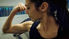 "Gal Gadot showing her biceps for 2016 movie ""Wonder Woman""..."