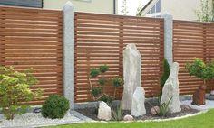 Holzwand Gartenzaun