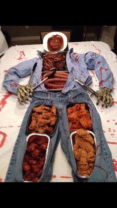 Halloween snack arrangement idea