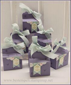 Stampin Up! Gewellter Anhänger, Scallop Tag Topper Punch, Photopolymer Stamp, Klarsichtstempel, Show and Tell, Gift Box, Begrüßungsgeschenke