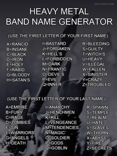 Heavy Metal Band Name Generator