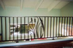 Wrought iron Railing with #cattails