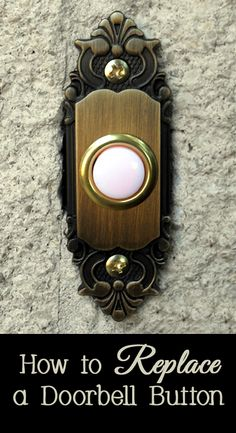 Is your doorbell button showing its age or do you want to replace your existing plain doorbell button with a decorative one?    The good news is that replacing a doorbell button is a fairly simple process that usually only requires a screwdriver.