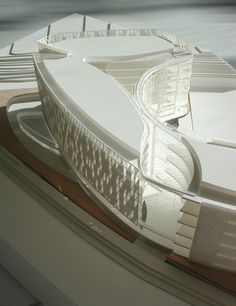 Pangyo Global R+D Center (Image by DRDS) [Architecture - Concept - Model - Maqueta] Architecture Panel, Architecture Portfolio, Concept Architecture, Futuristic Architecture, Amazing Architecture, Architecture Details, Interior Architecture, Amancio Williams, Architectural Scale