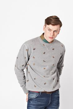 Squirrel Printed Sweatshirt - Mens Sweats - French Connection USA