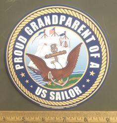 Proud Grandparent of a US Sailor Circle Magnet