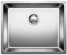 Blanco This kitchen sink only uses the highest quality stainless steel that is selected in accordance with specific criteria and is subject to strict quality checks. Double Bowl Sink, Single Bowl Kitchen Sink, New Kitchen, Kitchen Sinks, Blanco Sinks, Small Basin, Ceramic Undermount Sink, How To Wash Vegetables, Old Sink