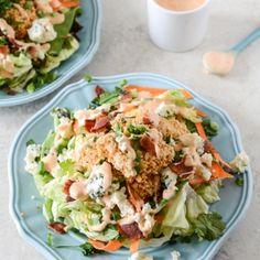 Crunchy Buffalo Chicken Salads