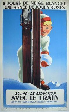 Affiche SNCF - Roland Hugon - 1956