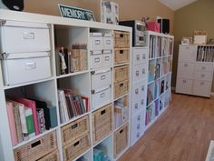 Love this - I would totally like to do this if I had the room for a craft room.