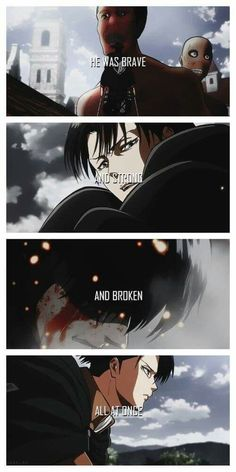 quotes, anime and sad image on We Heart It - attack on titan Attack On Titan Funny, Attack On Titan Ships, Attack On Titan Anime, Levi Quotes, Sad Anime Quotes, Sad Quotes, Otaku, Captain Levi, Levi X Eren