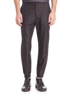 HELMUT LANG Carrot Top Jogger Pants. #helmutlang #cloth #pants