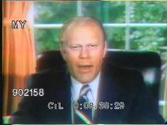 President Ford pardons Richard Nixon.