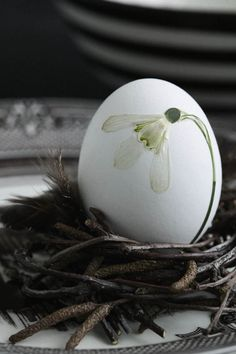 So delicate… Pressed flower easter eggs | © Concept Picture Library