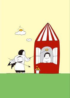 絵とおはなし「どちらにする?」 悪魔の役と天使の役。 どちらも役には違いない。 舞台の小物を付け替えるだけ。 Snoopy, Fictional Characters, Fantasy Characters