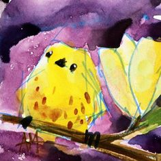 Yellow Warbler 138 Watercolor Painting by Angela Moulton