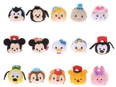 Tsum Tsum 3rd Anniversary Box Set (15 of 30 Front) - Pete, Max, Clarice, Jiminy Cricket, Marie, Mickey, Minnie, Donald, Daisy, Goofy, Pluto, Chip, Dale, Winnie the Pooh, Piglet