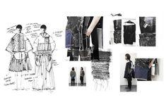 Fashion Illustration Fashion Sketchbook - fashion collection development with fashion sketches Fashion Portfolio Layout, Fashion Design Sketchbook, Fashion Sketches, Portfolio Design, Portfolio Ideas, Drawing Fashion, Dress Sketches, Sketchbook Layout, Textiles Sketchbook